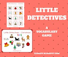 English Freak: LITTLE DETECTIVES - A VOCABULARY GAME (PRINTABLE)