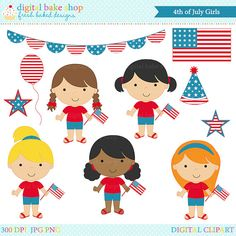 4th of july clipart clip art american america by DigitalBakeShop