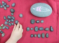 Painted rock letters