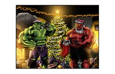 #Hulk #Fan #Art. (Christmas with the Hulks (FULL COLOR) By: Millenniumman001. ÅWESOMENESS!!!™ ÅÅÅ+