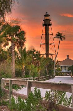 Sanibel Island Lighthouse - Just there in March of vacation.was able to get many amazing shots of the lighthouse with a variety of clouds, sunshine, palms and white sand beach! Sanibel Island, Tybee Island, Oh The Places You'll Go, Places To Travel, Places To Visit, Old Florida, Sanibel Florida, Clearwater Florida, Sarasota Florida