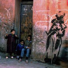 Blek le Rat in Marrakesh, Morocco, 1989 Blek Le Rat, Marrakesh, Rats, Morocco, Painting, Painting Art, Paintings, Painted Canvas, Drawings