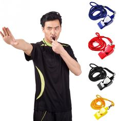 1PC Plastic Whistles Referee Coach Professional Football Training Sports Whistle Survival Outdoor
