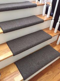 Bristol Dark Brown New Zealand Wool!-TRUE Bullnose™ Carpet Stair Tread Runner Replacement for Style, Comfort and Safety (Sold Each) Dark Carpet, Brown Carpet, Best Carpet, Wool Carpet, Modern Carpet, Types Of Carpet, Carpet Styles, Carpet Manufacturers, Carpet Stair Treads