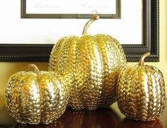 Gold-Studded Pumpkins