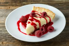 Can't decide between lemon and chocolate? Have both in this easy recipe for white chocolate lemon tart with raspberry sauce!