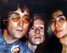 John Lennon, Andy Warhol, and Yoko Ono