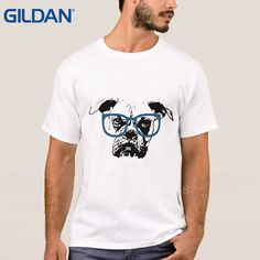 >> Click to Buy << Cute Animal Dog Glasses Light Pop Top Tee White Ali T Shirts Tee T Shirt Hop Round Collar Brand-Clothing Mens Cotton Simple #Affiliate