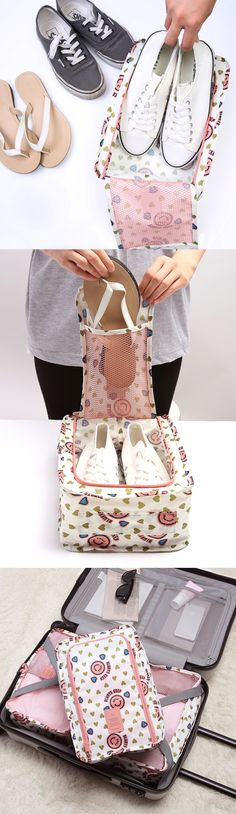 A good pair of shoes will take you to good places, so keep them neat & clean with this stylish shoe pouch! Oh, the places you'll go~