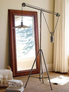 pulley lamp.  (love pottery barn)