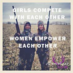 Girls compete, women empower #HuntressView