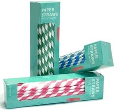 Great site for striped straws, cheap. $1.99 for 144!