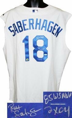 Bret Saberhagen signed Kansas City Royals Authentic Vest- 85 WS MVP & 2X CY- MLB Hologram . $217.17. Bret Saberhagen was drafted out of high school by the Kansas City Royals in the 19th round of the 1982 Major League Baseball Draft. In 1985, the 21-year-old Saberhagen established himself as the ace of the staff, going 20-6 with a 2.87 ERA, leading the Royals to a World Series championship and being named MVP of the Series along the way, pitching two complete games in the Serie...