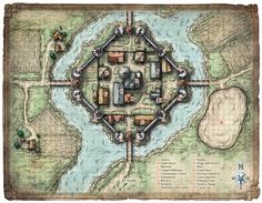 Bildergebnis für d&d village map Fantasy City Map, Fantasy Places, Fantasy Town, Dungeons And Dragons, Plan Ville, Environment Map, Pathfinder Maps, Map Sketch, Village Map