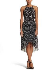 White House | Black Market Dot High-Low Dress #whbm. Purchased it for a summer wedding.