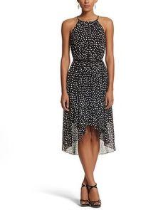 White House | Black Market Dot High-Low Dress #whbm