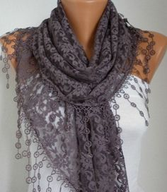 Lace Shawl Scarf by Anils on Etsy, $19.90 | elfsacks