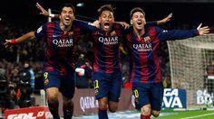 @Barcelona la MSN: Lionel Messi, Luis Suárez y Neymar Jr. #9ine