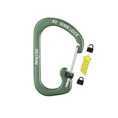 Slidelock Carabiner Aluminium #3 van NiteIze. Deze Slidelock Carabiner Aluminium Olive heeft zoals de naam al zegt een side lock, welke je kan vergrendelen door middel van het schuiven van een schuifje.