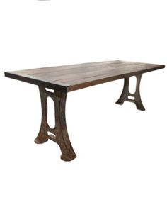 Industrial Dining Table With Iron Legs U2013 Allissias Attic U0026 Vintage French  Style