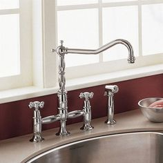 chrome kitchen faucet new sink installation 117 best faucets images taps american standard culinaire bridge in polished handles