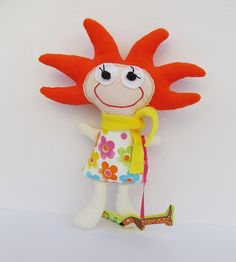 Starfish doll plush girl toy children softie kid dog by mouhoxlab, €18.00