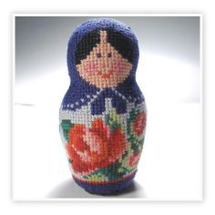 Matryoshka doll – fully cross-stitched