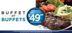 Total Las Vegas - Buffet of Buffets  -  purchase at participating buffet to get pass. Rio, PH, Caesars, Paris