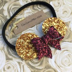 Check out our disney belle bow selection for the very best in unique or custom, handmade pieces from our shops. Mouse Ears Headband, Ear Headbands, Baby Girl Headbands, Minnie Mouse Bow, Baby Disney, Disney Belle, Princess Belle, Disney Crafts, New Baby Products
