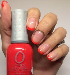 Nail art, ORLY nail polish, french manicure, simple nails design Instagram photo by: @NailArt_by_LadyBirdBoutique
