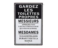 Plaque métal, noir et blanc - H30pour WC Small Space Interior Design, Quote Citation, Metal Plaque, Home Living, Funny Signs, Keep It Cleaner, Home Deco, Funny Quotes, Sweet Home