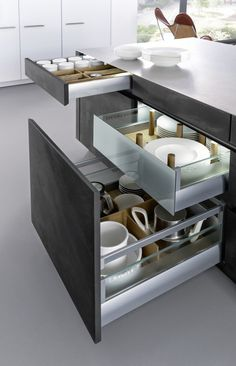 Get LEICHT's modern kitchen units with concrete surface and designer material with Concrete-A at Elan Kitchens, Leading London Kitchen Store in Fulham. Home Decor Kitchen, Kitchen Furniture, New Kitchen, Home Kitchens, Kitchen Grey, Rustic Kitchen, Kitchen Ideas, Kitchen Units, Kitchen Storage