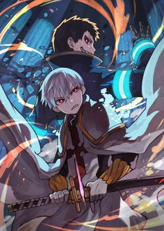 Sho Kusakabe & Shinra Kusakabe - Enen no Shouboutai (Fire Force) Manga Anime, Fanarts Anime, Otaku Anime, Manga Art, Anime Characters, Anime Art, Cute Anime Wallpaper, Hero Wallpaper, Laptop Wallpaper