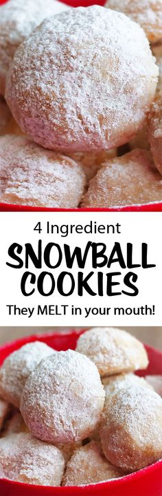 The Best Easy Homemade Snowball Cookies - Dessert Recipes Holiday Baking, Christmas Desserts, Christmas Treats, Christmas Baking, Christmas Parties, Christmas Time, Italian Christmas, Snowball Cookies, Yummy Cookies