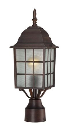 View the Nuvo Lighting 60/4908 Adams Single-Light Post Lantern, Finished in Rustic Bronze with Frosted Glass Panels at Build.com.