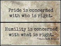 Pride vs Humility