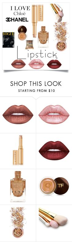 """Metallic maybe 😋"" by kxngjae ❤ liked on Polyvore featuring beauty, Lime Crime, Wander Beauty, Chloé, Tom Ford, In Your Dreams, Naomi Campbell, Stila, Beauty and contestentry"