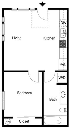 Granny pods simple Signature Pointe Apartments in Kent, WA - Exceptional Living Awaits Small House Floor Plans, Cabin Floor Plans, Best House Plans, Granny Flat Plans, Sims, In Law House, Studio Apartment Layout, Apartment Floor Plans, Tiny House Cabin