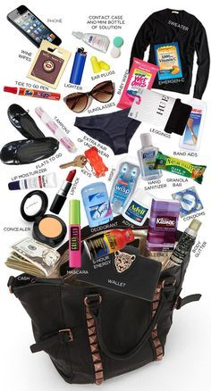 More Than 30 If You Have A Great Big Bag What You Need si tienes una gran bolsa grande, lo que necesitas wenn sie eine große große tasche haben, was sie benötigen se hai una grande borsa di cui hai bisogno Road Trip Packing, Packing Tips For Travel, Travel Hacks, Road Trip Checklist, Road Trips, Packing Hacks, Vacation Packing, Travel Checklist, Packing Lists