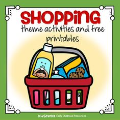 Shopping theme activities and printables for Preschool, Pre-K and Kindergarten