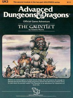 UK3 The Gauntlet (1e) | Book cover and interior art for Advanced Dungeons and Dragons 1.0 - Advanced Dungeons & Dragons, D&D, DND, AD&D, ADND, 1st Edition, 1st Ed., 1.0, 1E, OSRIC, OSR, Roleplaying Game, Role Playing Game, RPG, Wizards of the Coast, WotC, TSR Inc. | Create your own roleplaying game books w/ RPG Bard: www.rpgbard.com