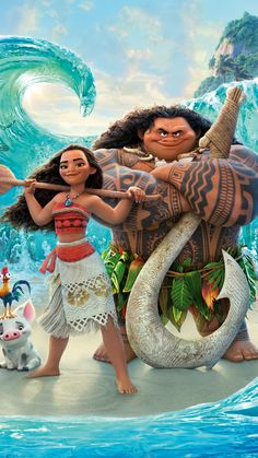 Moana/Vaiana and Maui - Disney Moana Disney, Disney Pixar, Disney Animation, Disney And Dreamworks, Disney Cartoons, Disney Magic, Disney Art, Disney Movies, Disney Characters