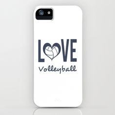 Love Heart Volleyball (blue) iPhone & iPod Case by Raineon