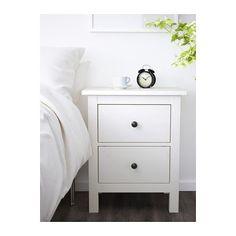 HEMNES Komoda,2ladice - bijeli bajc, 54x66 cm - IKEA