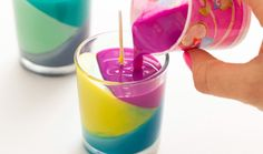 Use Crayons to Create Color Block Candles...Easy and convenient!! should try this soon.