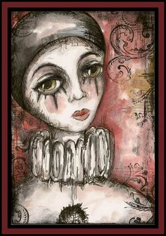 Pierrot from Sunday Postcard Art