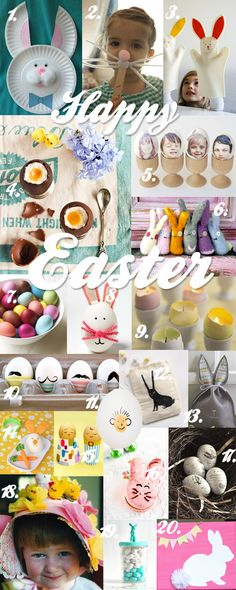 Easter is the perfect excuse to grab some basic craft supplies and spend some lovely time crafting with your kids. Eggs and bunnies seem to be most fun (and eas
