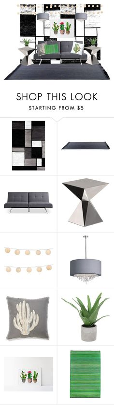 """""""Cacti Based Living Room"""" by haileypeay on Polyvore featuring interior, interiors, interior design, home, home decor, interior decorating, Alpine, Driade, LumaBase and Dot & Bo"""