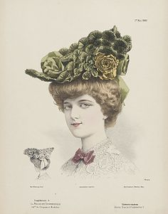 French millinery print 1905