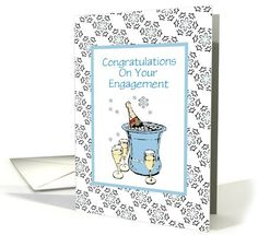 Congratulations-Engagement-Customizable Card.  Thank you customer in Oklahoma!